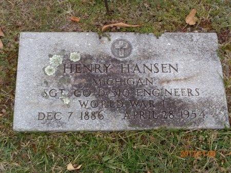 HANSEN, HENRY - Marquette County, Michigan | HENRY HANSEN - Michigan Gravestone Photos
