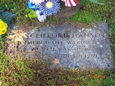HANSEN, JOHN CLIFFORD - Marquette County, Michigan   JOHN CLIFFORD HANSEN - Michigan Gravestone Photos