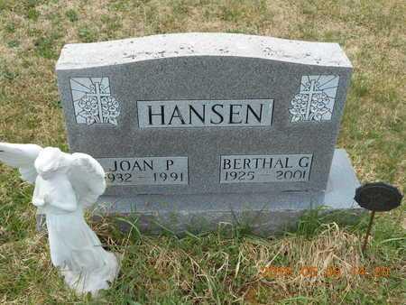HANSEN, JOAN P. - Marquette County, Michigan   JOAN P. HANSEN - Michigan Gravestone Photos