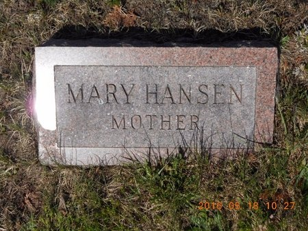 HANSEN, MARY - Marquette County, Michigan | MARY HANSEN - Michigan Gravestone Photos