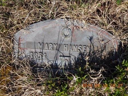 HANSEN, MARY - Marquette County, Michigan   MARY HANSEN - Michigan Gravestone Photos