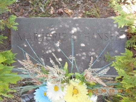 HANSEN, MARJORIE L. - Marquette County, Michigan   MARJORIE L. HANSEN - Michigan Gravestone Photos