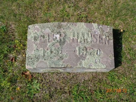 HANSEN, PETER - Marquette County, Michigan   PETER HANSEN - Michigan Gravestone Photos