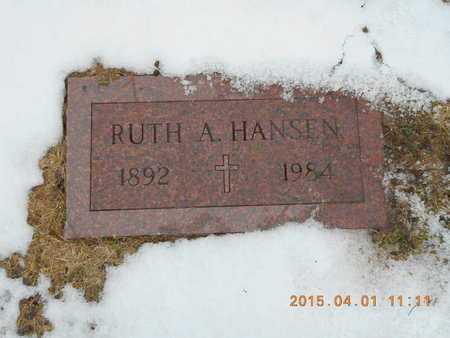 HANSEN, RUTH A. - Marquette County, Michigan | RUTH A. HANSEN - Michigan Gravestone Photos