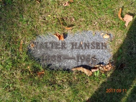 HANSEN, WALTER - Marquette County, Michigan   WALTER HANSEN - Michigan Gravestone Photos