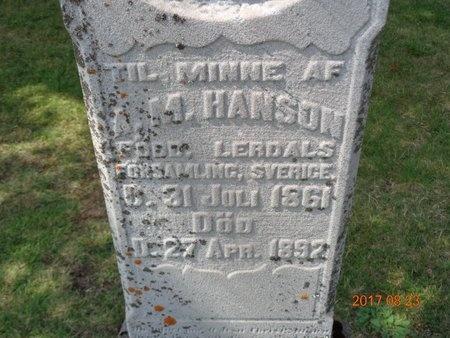 HANSON, ANDREW M. - Marquette County, Michigan   ANDREW M. HANSON - Michigan Gravestone Photos