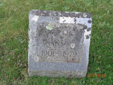 HANSON, AMELIA - Marquette County, Michigan | AMELIA HANSON - Michigan Gravestone Photos