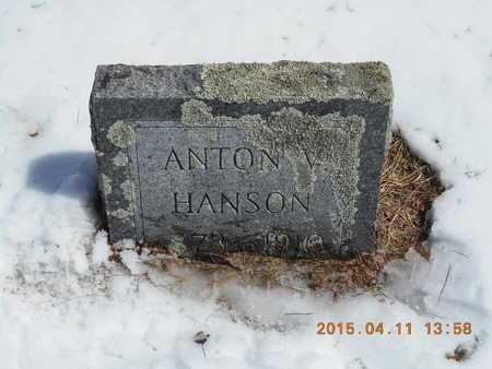 HANSON, ANTON V. - Marquette County, Michigan | ANTON V. HANSON - Michigan Gravestone Photos