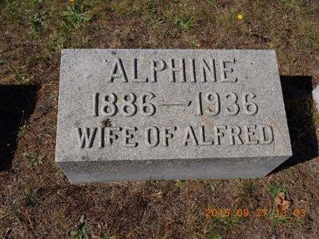 HANSON, ALPHINE - Marquette County, Michigan | ALPHINE HANSON - Michigan Gravestone Photos