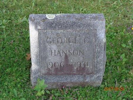 HANSON, GEORGE C. - Marquette County, Michigan   GEORGE C. HANSON - Michigan Gravestone Photos