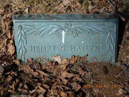 HANSON, HENRY G. - Marquette County, Michigan | HENRY G. HANSON - Michigan Gravestone Photos