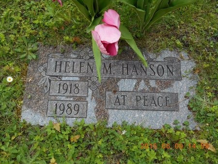 HANSON, HELEN M. - Marquette County, Michigan | HELEN M. HANSON - Michigan Gravestone Photos