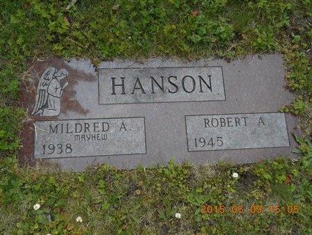 HANSON, MILDRED A. - Marquette County, Michigan | MILDRED A. HANSON - Michigan Gravestone Photos