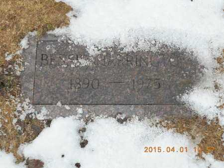 HARRINGTON, BESSIE - Marquette County, Michigan   BESSIE HARRINGTON - Michigan Gravestone Photos