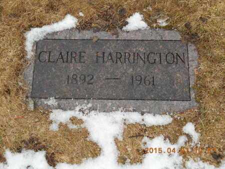 HARRINGTON, CLAIRE - Marquette County, Michigan | CLAIRE HARRINGTON - Michigan Gravestone Photos