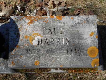 HARRIS, PAUL - Marquette County, Michigan   PAUL HARRIS - Michigan Gravestone Photos