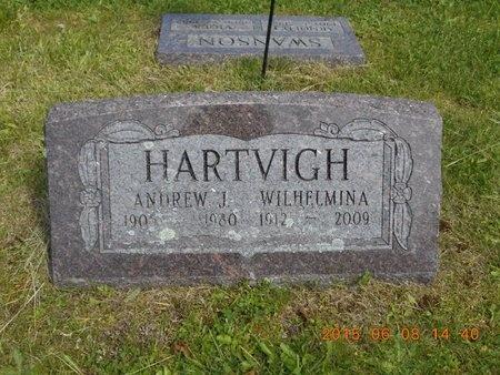 HARTVIGH, WILHELMINA - Marquette County, Michigan | WILHELMINA HARTVIGH - Michigan Gravestone Photos