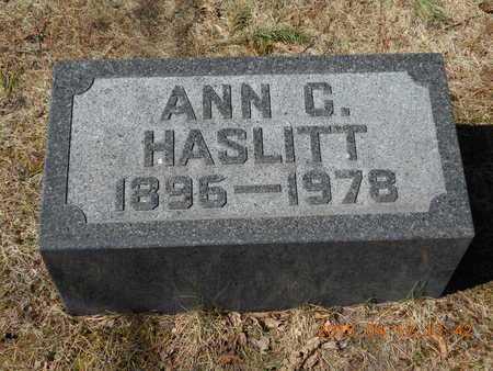 HASLITT, ANN C. - Marquette County, Michigan   ANN C. HASLITT - Michigan Gravestone Photos