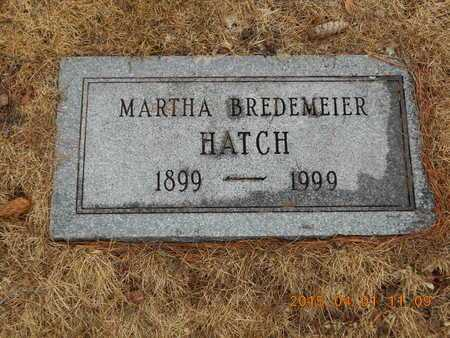BREDEMEIER HATCH, MARTHA - Marquette County, Michigan | MARTHA BREDEMEIER HATCH - Michigan Gravestone Photos