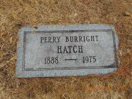 HATCH, PERRY BURRIGHT - Marquette County, Michigan | PERRY BURRIGHT HATCH - Michigan Gravestone Photos