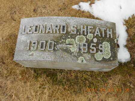 HEATH, LEONARD S. - Marquette County, Michigan | LEONARD S. HEATH - Michigan Gravestone Photos