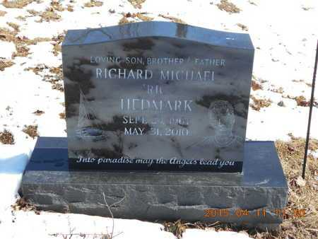 HEDMARK, RICHARD MICHAEL - Marquette County, Michigan | RICHARD MICHAEL HEDMARK - Michigan Gravestone Photos