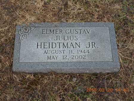 HEIDTMAN, JR., ELMER GUSTAV JULIUS - Marquette County, Michigan | ELMER GUSTAV JULIUS HEIDTMAN, JR. - Michigan Gravestone Photos