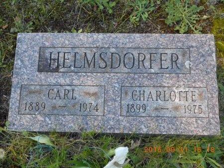 HELMSDORFER, CARL - Marquette County, Michigan | CARL HELMSDORFER - Michigan Gravestone Photos