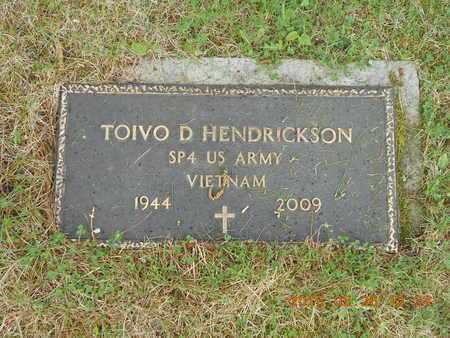 HENDRICKSON, TOIVO D. - Marquette County, Michigan | TOIVO D. HENDRICKSON - Michigan Gravestone Photos