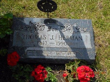 HERMAN, THOMAS J. - Marquette County, Michigan   THOMAS J. HERMAN - Michigan Gravestone Photos