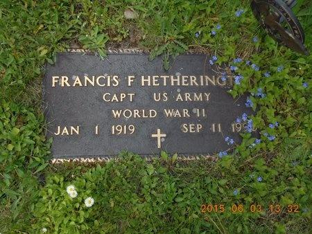 HETHERINGTON, FRANCIS F. - Marquette County, Michigan | FRANCIS F. HETHERINGTON - Michigan Gravestone Photos
