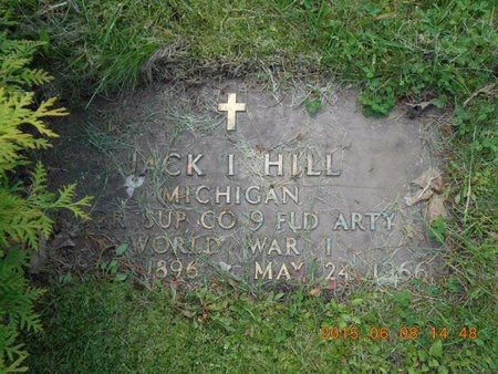 HILL, JACK I. - Marquette County, Michigan   JACK I. HILL - Michigan Gravestone Photos