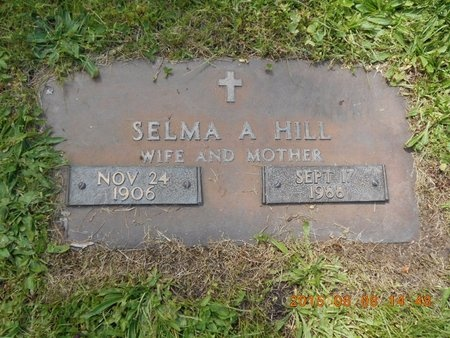 HILL, SELMA A. - Marquette County, Michigan | SELMA A. HILL - Michigan Gravestone Photos