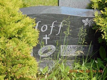 HOFF, DONALD J. - Marquette County, Michigan   DONALD J. HOFF - Michigan Gravestone Photos