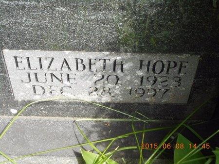 HOFF, ELIZABETH HOPE - Marquette County, Michigan   ELIZABETH HOPE HOFF - Michigan Gravestone Photos