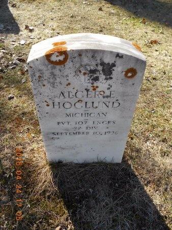 HOGLUND, ALGER E. - Marquette County, Michigan   ALGER E. HOGLUND - Michigan Gravestone Photos