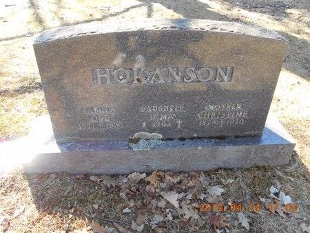 HOKANSON, CHRISTINE - Marquette County, Michigan | CHRISTINE HOKANSON - Michigan Gravestone Photos
