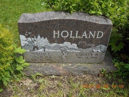 HOLLAND, RONALD L. - Marquette County, Michigan   RONALD L. HOLLAND - Michigan Gravestone Photos