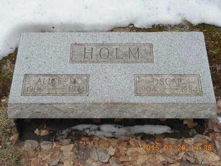 HOLM, ALICE M. - Marquette County, Michigan | ALICE M. HOLM - Michigan Gravestone Photos