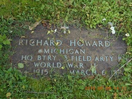 HOWARD, RICHARD - Marquette County, Michigan | RICHARD HOWARD - Michigan Gravestone Photos