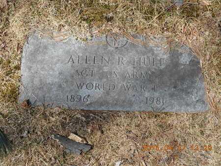 HUFF, ALLEN R. - Marquette County, Michigan | ALLEN R. HUFF - Michigan Gravestone Photos