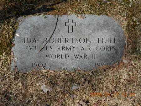 ROBERTSON HUFF, IDA - Marquette County, Michigan | IDA ROBERTSON HUFF - Michigan Gravestone Photos