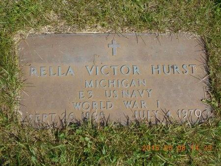 HURST, RELLA VICTOR - Marquette County, Michigan | RELLA VICTOR HURST - Michigan Gravestone Photos
