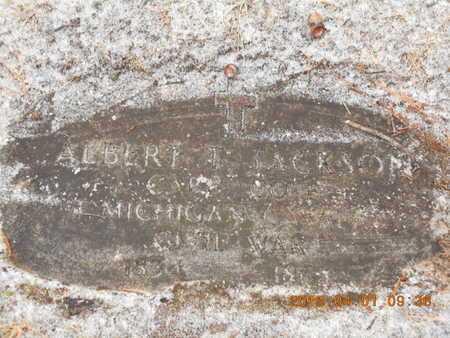JACKSON, ALBERT T. - Marquette County, Michigan   ALBERT T. JACKSON - Michigan Gravestone Photos