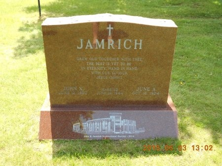 JAMRICH, JUNE A. - Marquette County, Michigan | JUNE A. JAMRICH - Michigan Gravestone Photos