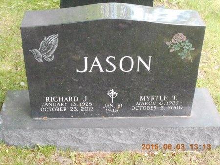 JASON, MYRTLE T. - Marquette County, Michigan | MYRTLE T. JASON - Michigan Gravestone Photos