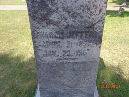JEFFERY, FRANCIS - Marquette County, Michigan   FRANCIS JEFFERY - Michigan Gravestone Photos
