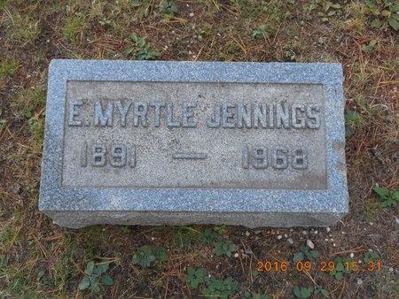 JENNINGS, E. MYRTLE - Marquette County, Michigan | E. MYRTLE JENNINGS - Michigan Gravestone Photos