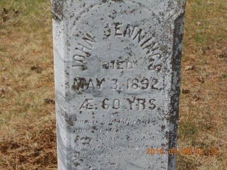 JENNINGS, JOHN - Marquette County, Michigan | JOHN JENNINGS - Michigan Gravestone Photos