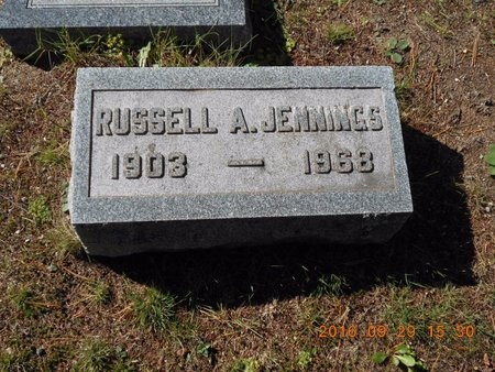 JENNINGS, RUSSELL A. - Marquette County, Michigan | RUSSELL A. JENNINGS - Michigan Gravestone Photos